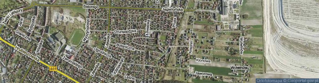 Zdjęcie satelitarne Szczęśliwa ul.