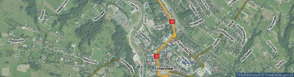 Zdjęcie satelitarne Szwedzka ul.