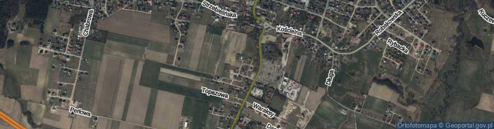 Zdjęcie satelitarne Szmaragdowa ul.