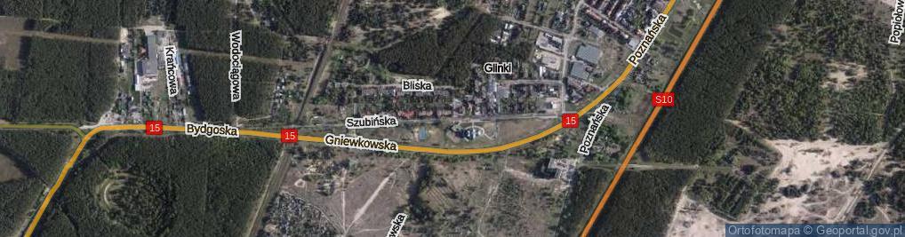 Zdjęcie satelitarne Szubińska ul.