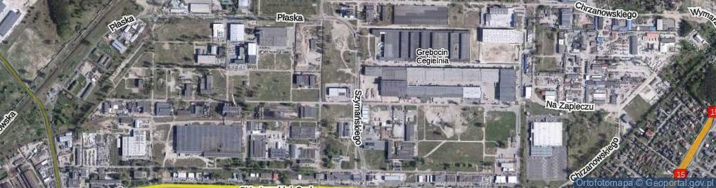 Zdjęcie satelitarne Szymańskiego Stanisława ul.