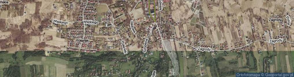 Zdjęcie satelitarne Szopena ul.