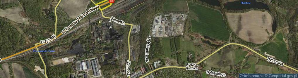 Zdjęcie satelitarne Szyb Franciszek ul.