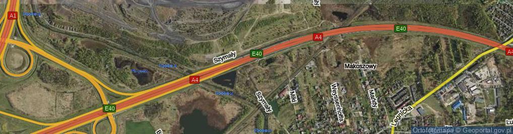 Zdjęcie satelitarne Szymały Jana ul.