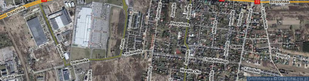 Zdjęcie satelitarne Taternicza ul.