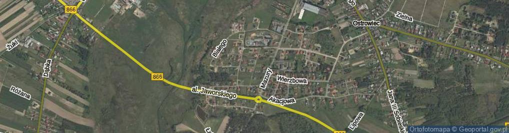 Zdjęcie satelitarne Tarnowskiego Jana, hetm. ul.