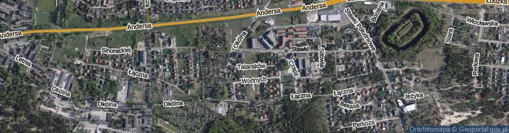 Zdjęcie satelitarne Tataraków ul.
