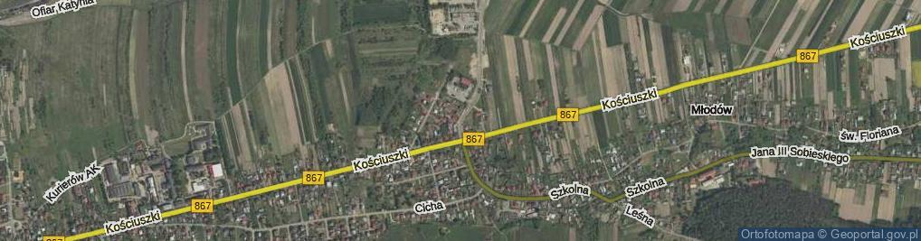 Zdjęcie satelitarne Techniczna ul.