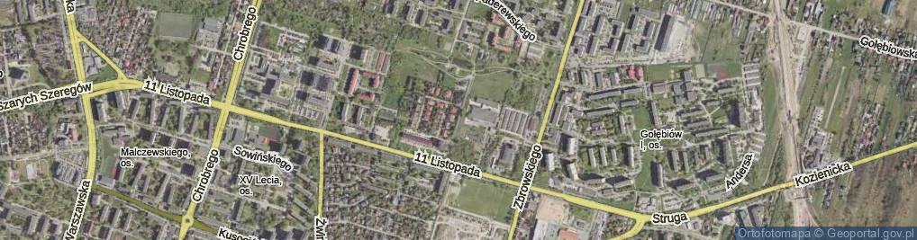 Zdjęcie satelitarne Terenowa ul.
