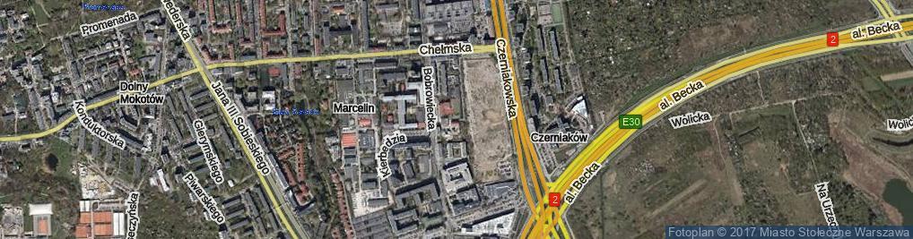 Zdjęcie satelitarne Teresińska ul.
