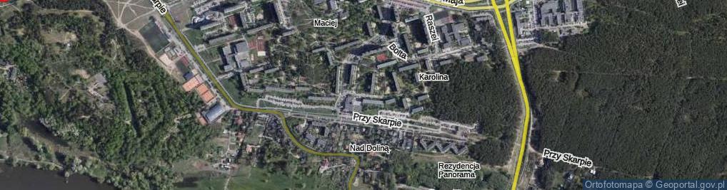 Zdjęcie satelitarne Tłoczka Ignacego ul.