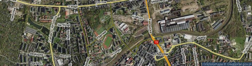 Zdjęcie satelitarne Towarowa ul.