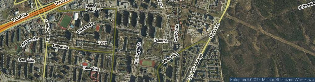 Zdjęcie satelitarne Tokarza Wacława ul.