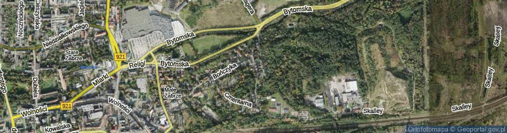 Zdjęcie satelitarne Tomeczka Antoniego, ks. ul.