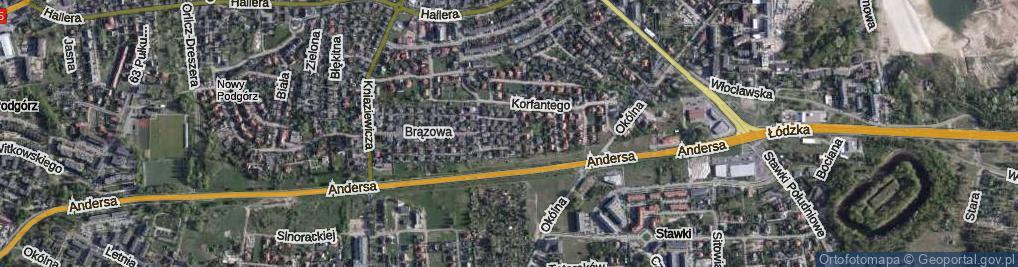 Zdjęcie satelitarne Trakcyjna ul.