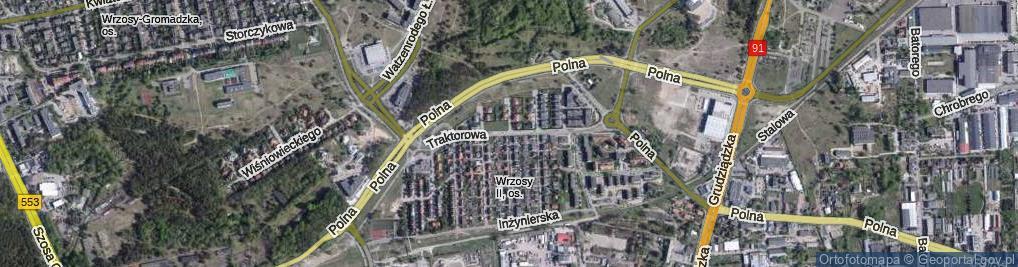 Zdjęcie satelitarne Traktorowa ul.