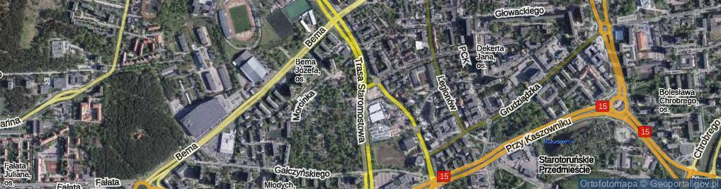 Zdjęcie satelitarne Trasa Staromostowa ul.