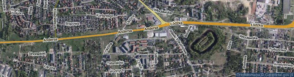 Zdjęcie satelitarne Trzcinowa ul.