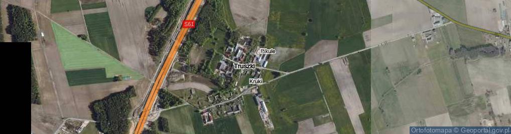 Zdjęcie satelitarne Truszki ul.