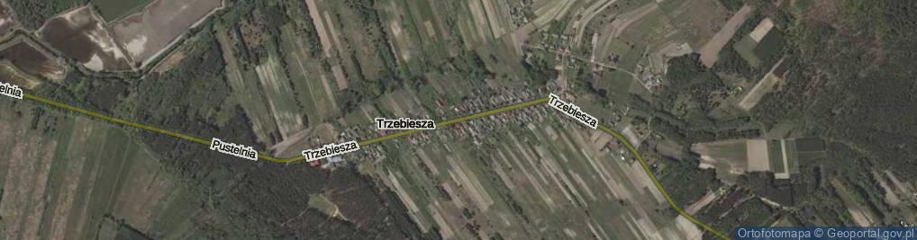 Zdjęcie satelitarne Trzebiesza ul.