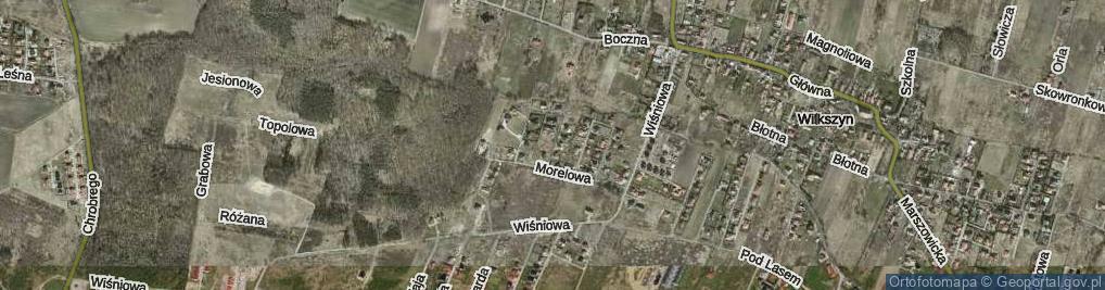 Zdjęcie satelitarne Trzech Króli ul.