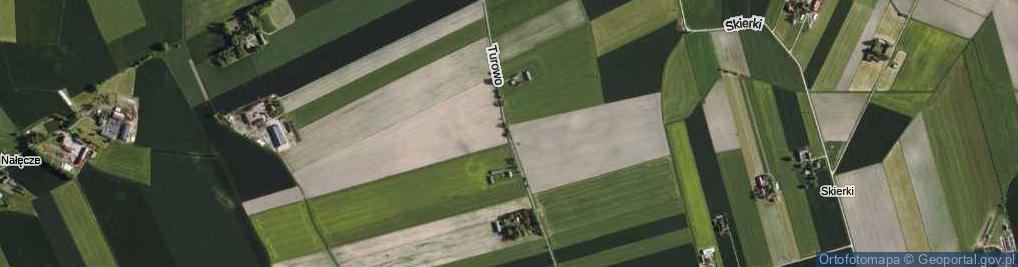 Zdjęcie satelitarne Turowo ul.