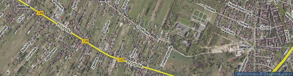 Zdjęcie satelitarne Turkusowa ul.