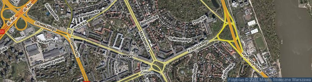 Zdjęcie satelitarne Tucholska ul.