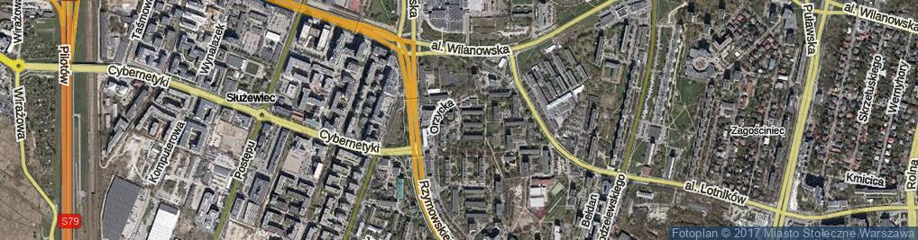 Zdjęcie satelitarne Tuchlińska ul.