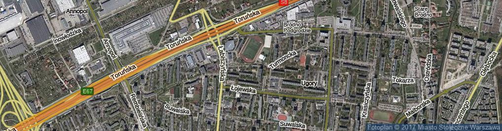 Zdjęcie satelitarne Turmoncka ul.