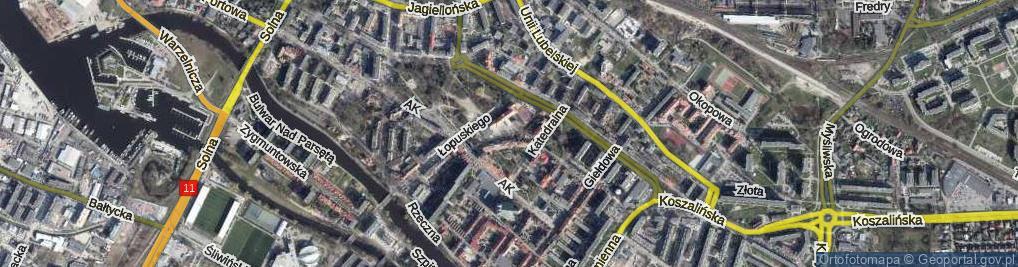 Zdjęcie satelitarne Uczniowska ul.