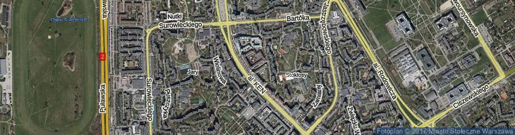 Zdjęcie satelitarne Uczonych ul.