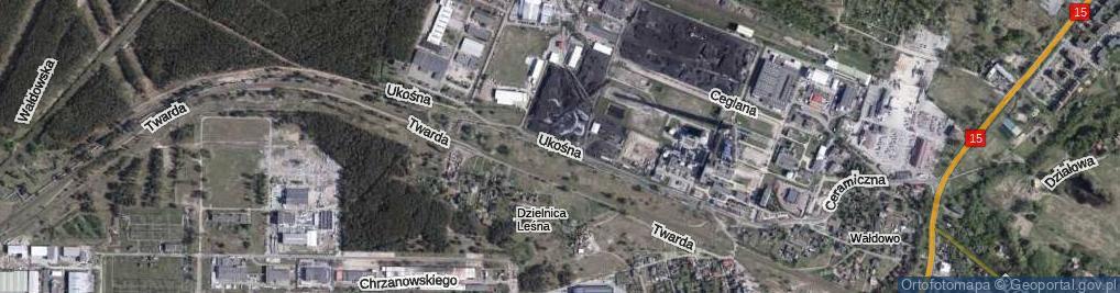 Zdjęcie satelitarne Ukośna ul.