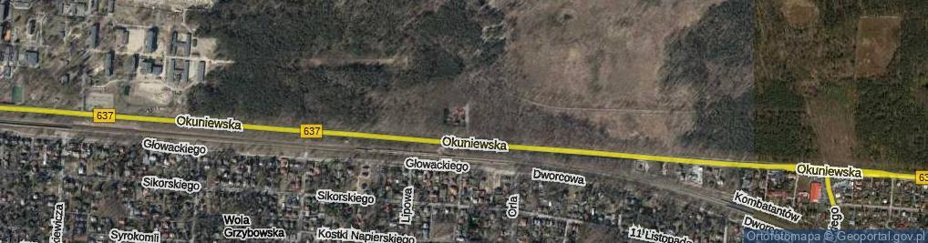 Zdjęcie satelitarne Uliczka ul.
