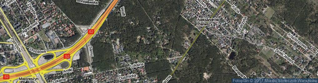 Zdjęcie satelitarne Umowna ul.