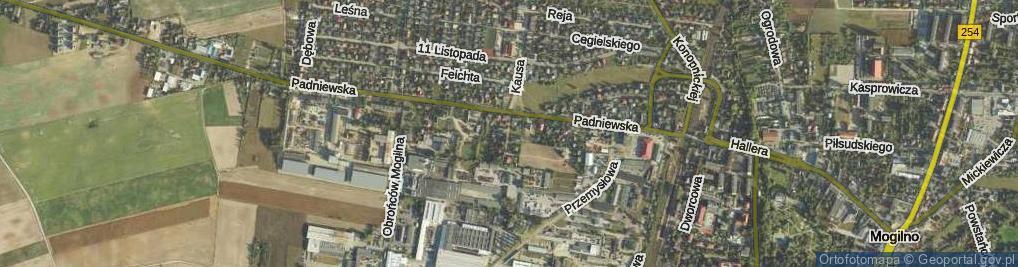Zdjęcie satelitarne Ustronie ul.