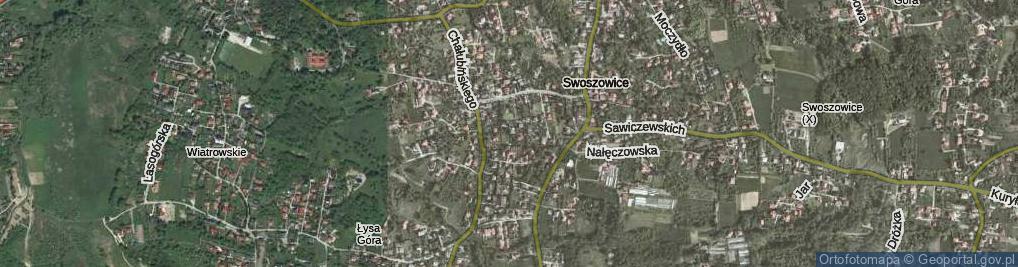 Zdjęcie satelitarne Uzdrowiskowa ul.