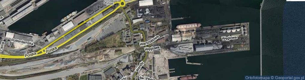 Zdjęcie satelitarne Warsztatowa ul.