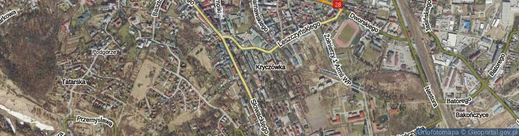 Zdjęcie satelitarne Wapowskiego Bernarda ul.