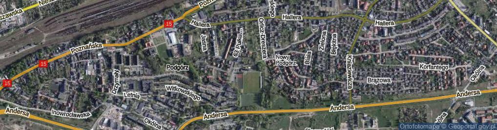 Zdjęcie satelitarne Waczyńskiego Szczepana ul.