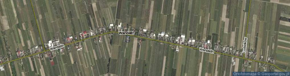 Zdjęcie satelitarne Wandalin ul.