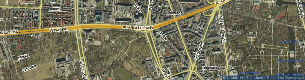 Zdjęcie satelitarne Waryńskiego Ludwika ul.