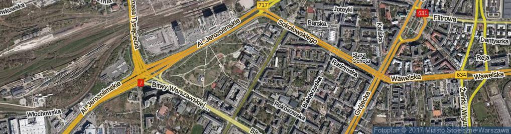 Zdjęcie satelitarne Wahadło ul.