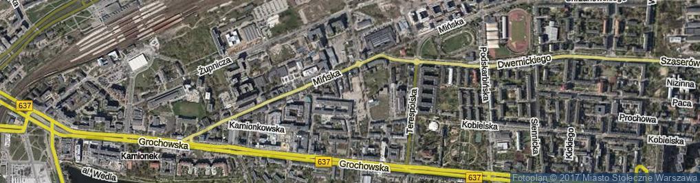 Zdjęcie satelitarne Wawerska ul.