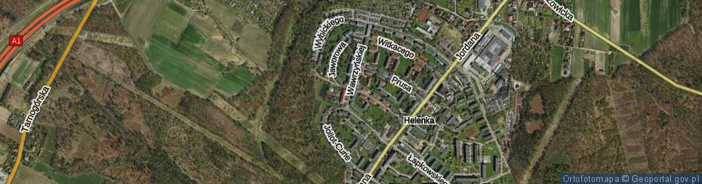 Zdjęcie satelitarne Wawrzyńskiej Ludwiki ul.
