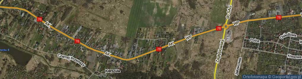 Zdjęcie satelitarne Wczasowa ul.
