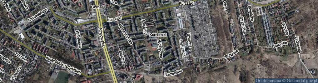 Zdjęcie satelitarne Wdzięczna ul.