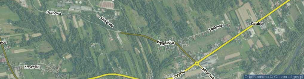 Zdjęcie satelitarne Węgielnica ul.