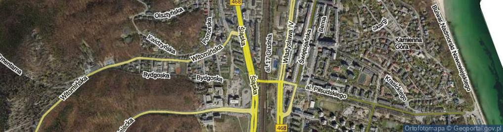 Zdjęcie satelitarne Węzeł Franciszki Cegielskiej ul.