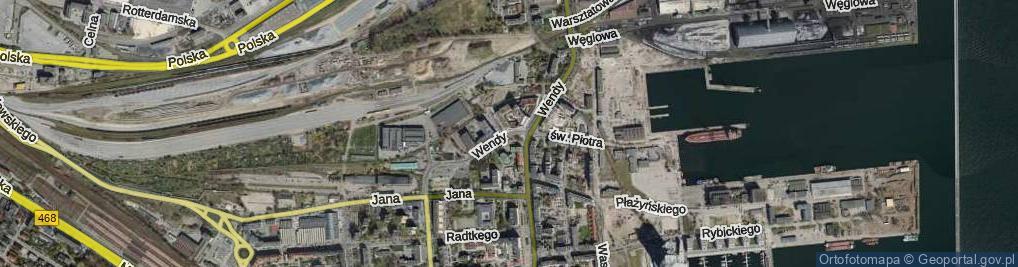 Zdjęcie satelitarne Wendy Tadeusza ul.